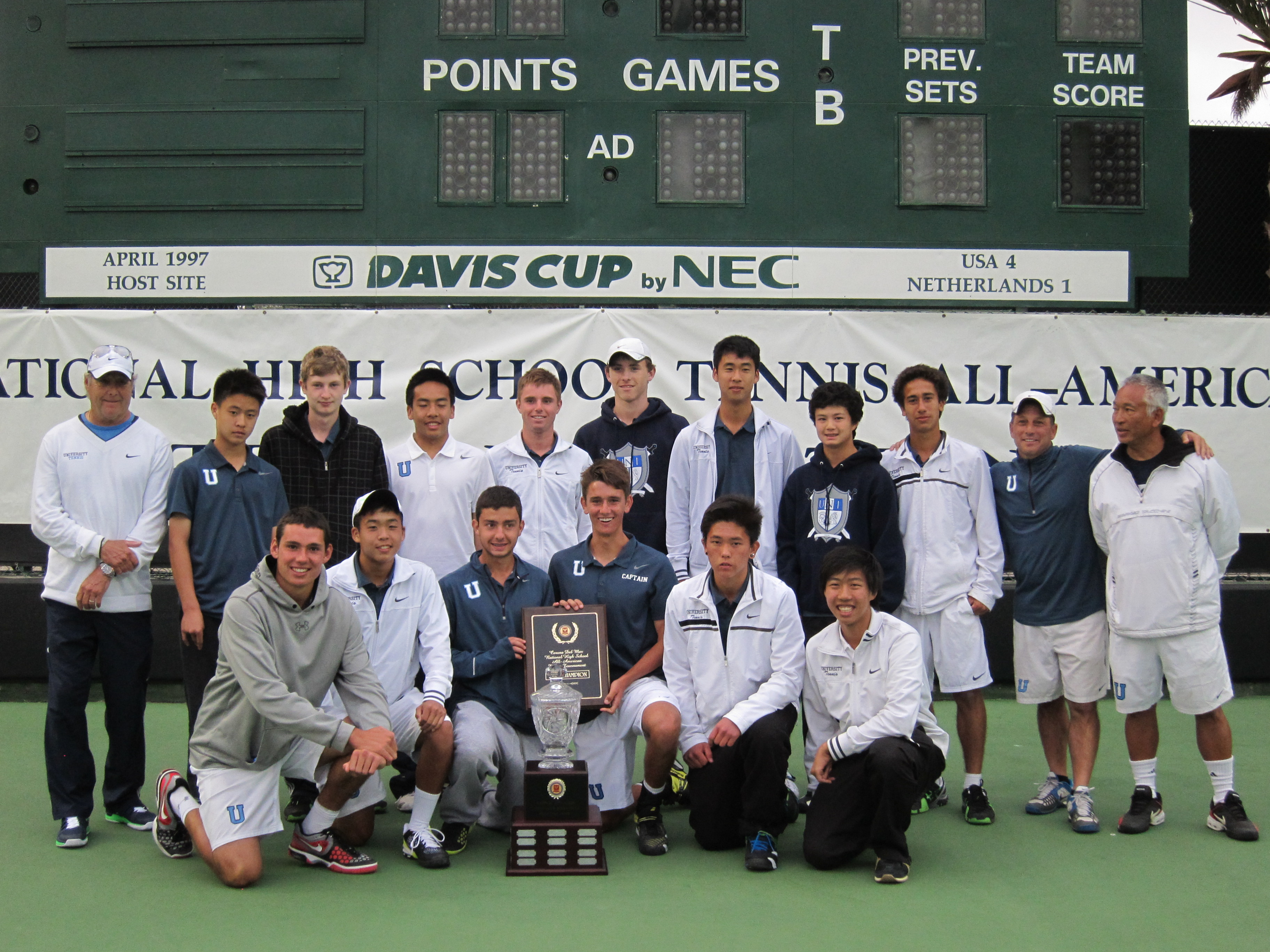 UNI Tennis Team Boys University High School Tennis Team Won All American Team Invitational
